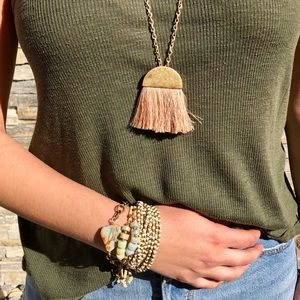 Jewelry - 🔴Long brass tassel pendant necklace